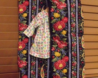 "Custom Made AG Sized or 18"" Doll Clothes Garment Bag"
