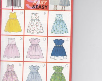 Butterick 5959 Girls' Dress Pattern Size 6-8