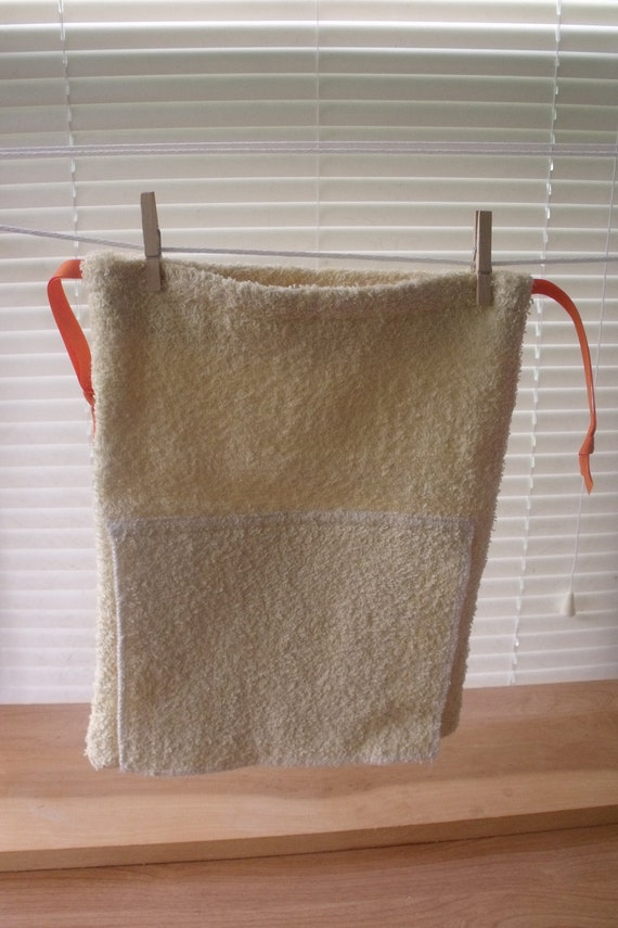 Terry Cloth Hanging Tolietry Bag for Camp