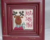 Just Say Ho Merry Christmas Moose