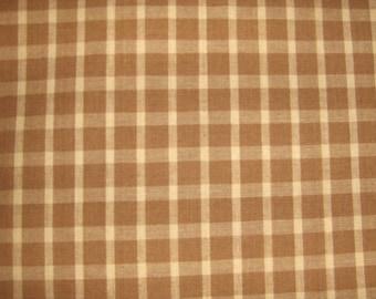 1 Yard of Mustard/Gold Check Homespun Fabric