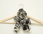 SALE - Black and White Pierre Cardin Scarf