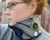 RESERVED for whatnotantiques - Chilly nights in the city - Neck tie Neckwarmer - Recycled