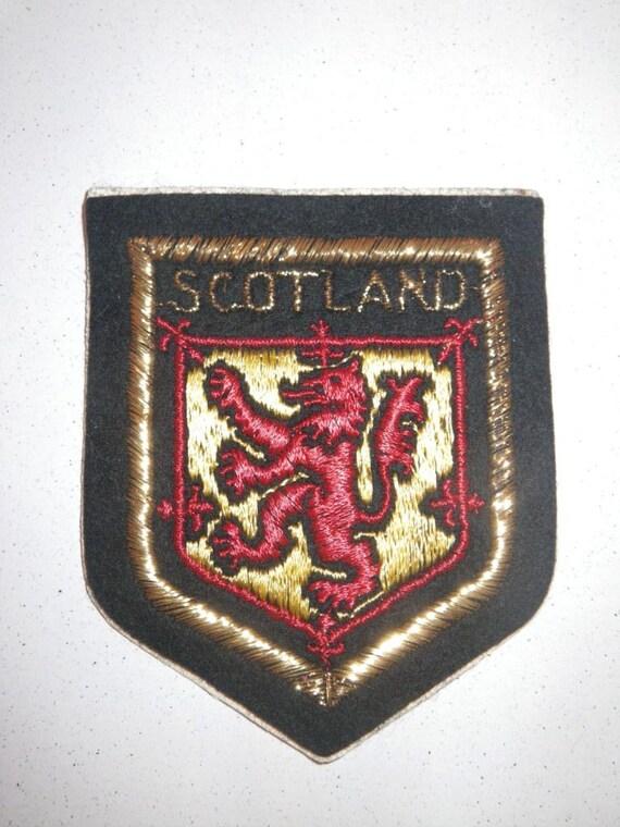 3 Vintage Scotland Souvenir Badges Embroidered