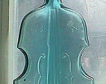 Large Vintage Figural VIOLIN shaped BOTTLE VIOBOT early hand blown example