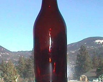 Antique HIRES ROOT BEER amber hand blown bottle, one of the first, 100 years old or more