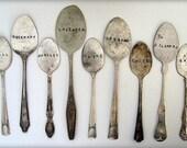 9 Antique Spoons Garden Markers Set