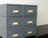 vintage metal drawers - instant collection