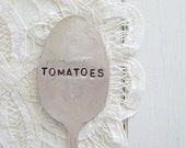 SALE - tomatoes - antique spoon garden marker