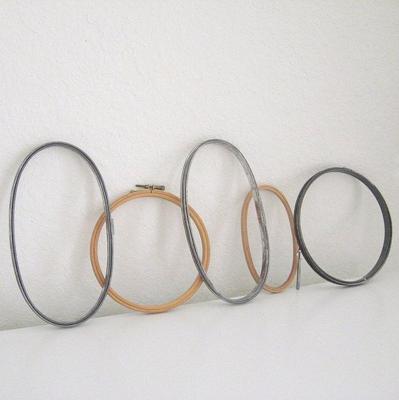 Vintage embroidery hoops instant collection