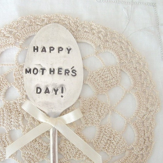 happy mothers day - antique tablespoon