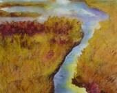 Painting, Great Meadows National Wildlife Refuge, Marsh