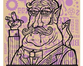 Big Business silkscreen concert poster.