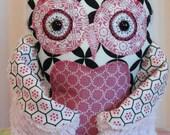 Stuffed Owl Pillow - Plush Owl Decor - No.21