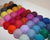 100 felted balls,18mm MultiColor more than 45 different colors