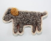 wool felted dog applique needle felted applique
