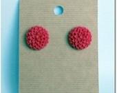 Chrysanthemum Earrings in Magenta