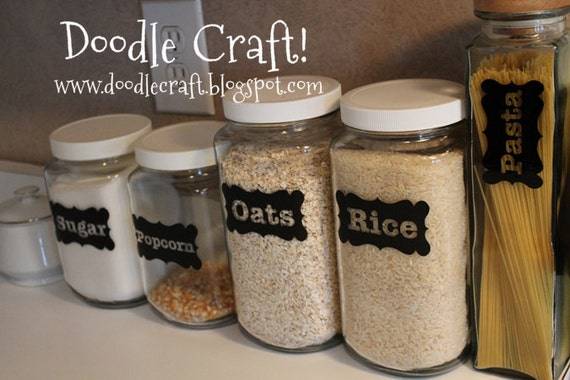 Custom Vinyl Labels For Pantry Canisters Mason Ball Glass Jars