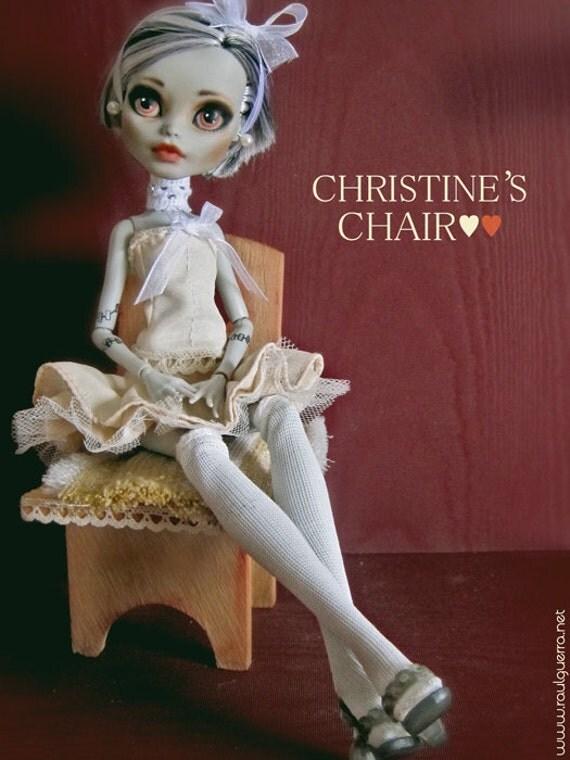 Ooak Monster High Custom Doll Frankie. Christine's Chair