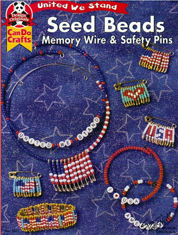 seed memory wire and safety pins united we stand jewelry