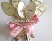 Spoon Garden Markers - PICK 6 PERSONALIZE -  6 PC Set personalized / custom - Upcycled Vintage Silverplated Spoon