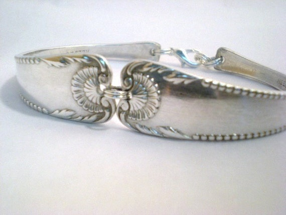 Spoon Bracelet, FREE ENGRAVING, Antique Spoon Jewelry, Bridal Bracelet, Wedding Jewelry, Bridesmaid, Custom, Silverware CLARENDON 1890