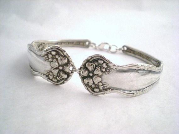 Silverware Silver Spoon Bracelet Antique Jewelry Silver - ARBUTUS 1908