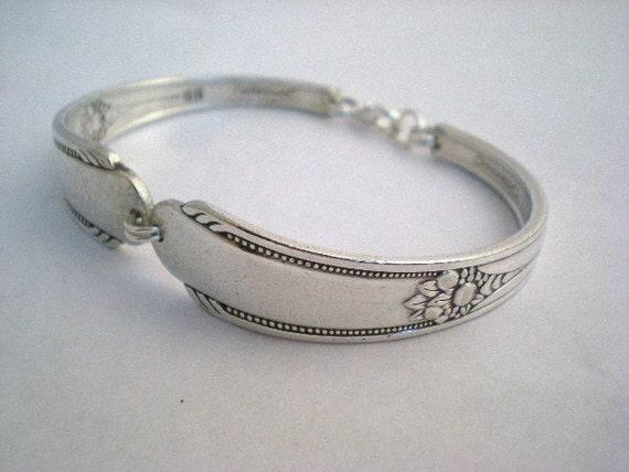 Spoon Bracelet Vintage Silverware Jewelry Silver - MEMORY 1937