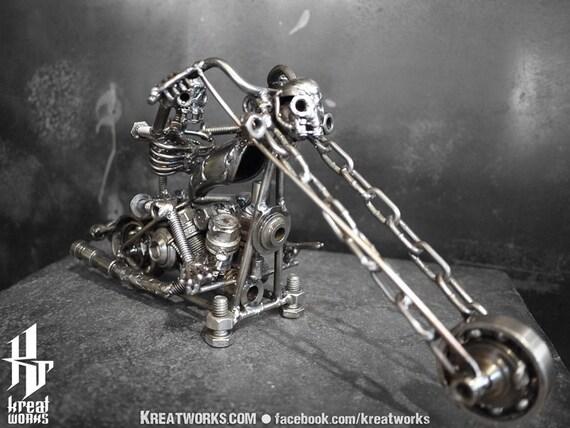 Metal Skeleton Rider (small item)