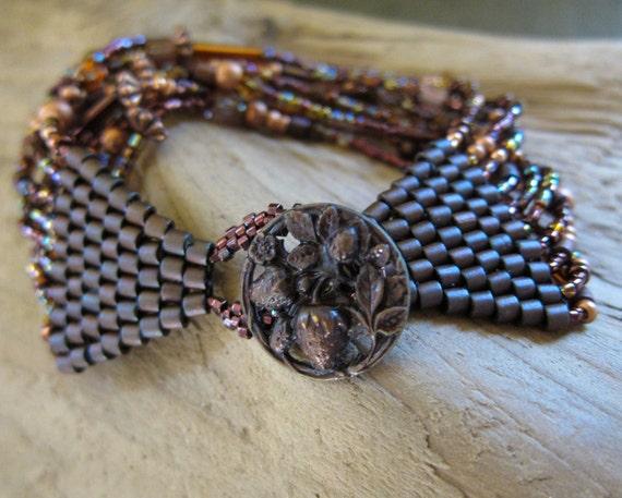Autumn Copper Beaded Bracelet