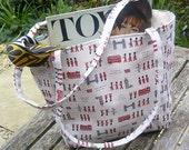 Handmade Lined London City retro inspired bag