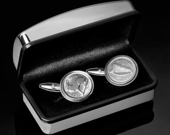 Rare Cufflinks - First series of Irish coins ever minted '1928 Coin Cufflinks'  - Very rare coin - 100% satisfaction - Includes gift box