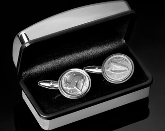 52nd Birthday Cufflinks  -  1965 Lucky Irish Coin - Includes presentation box - 100% satisfaction - 3 day delivery option