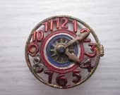 Vintage quirky cool clock pin