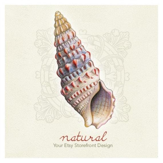 Natural Nine - Etsy Shop Banner Set, 6 graphics