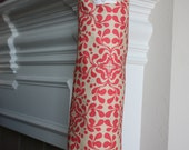Coral/Cream, Plastic Bag Holder - Recycle and Reuse Plastic Bags