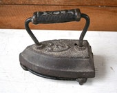 Antique Iron - With Tray - Also Engraved with the Number Seven