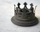 Rustic Ornate Heart Crown - Antique Chandelier Piece - Steampunk Find