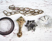 Five Rare Antique Chandelier and Lamp Hardware Pieces