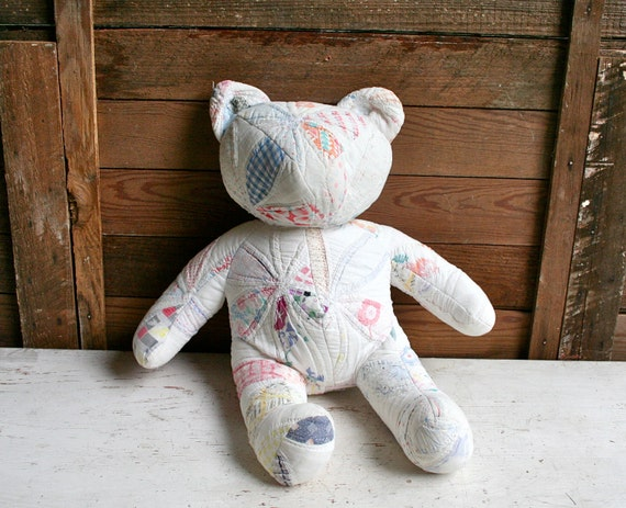 Antique Hand Quilted Bear - So Sweet and Chic