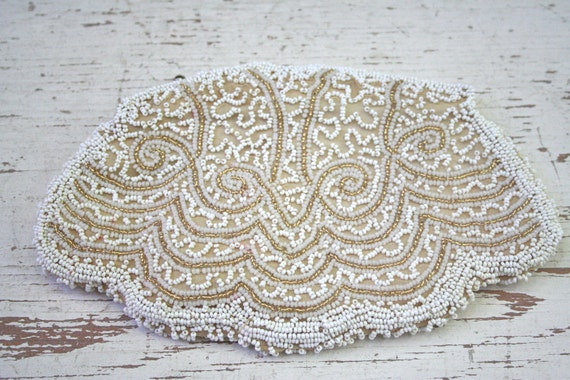 Antique Beaded Clutch - Made in France