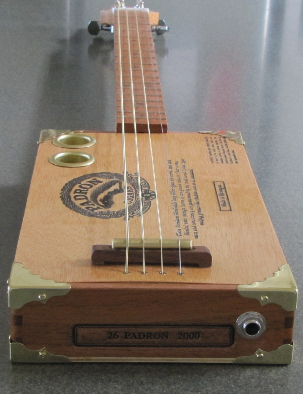 4 string padron cigar box guitar by barefootboogieguitar on etsy. Black Bedroom Furniture Sets. Home Design Ideas