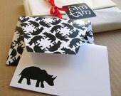Printable DIY envelope and greeting card set   (pattern No. wb13)