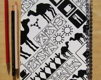 A5 sketch book / notebook, Black on White, Pattern No. 41WB