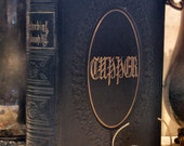 """1850 """"Proverbial Philosophy""""  Martin Tupper, Antique leather book, Art Plates, Free Shipping"""