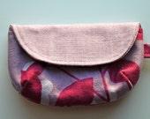 SALE Purple Leaves Key Chain coin purse