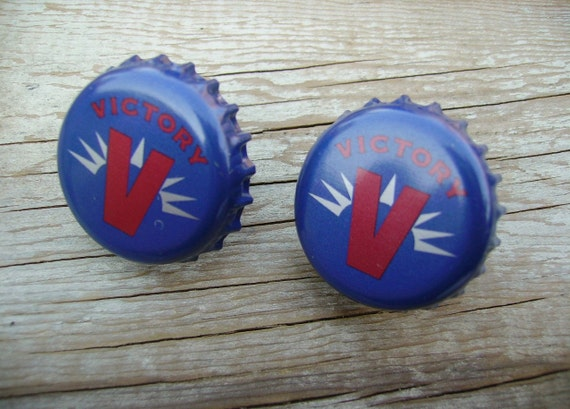 Beer Cap Cuff Links Upcycled Beer Bottlecap Cufflinks Victory Ale
