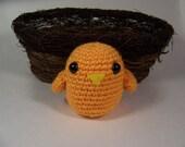 Mango Orange Plush Bird Rattle