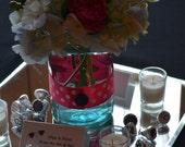 6 BLUE Ball Mason Quart Fruit Jars  Great for Lanterns & Centerpieces