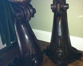 Reserved for Anita--Objet d' Art- 2 Amazing Antique 1840's Wood Carved Piano Legs....BEAUTIFUL